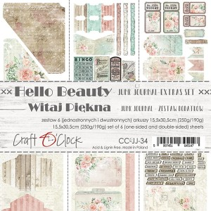 HELLO BEAUTY - JUNK JOURNAL SET - zestaw dodatków