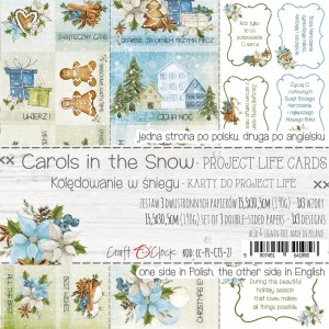 CAROLS IN THE SNOW - a set of Project Life cards
