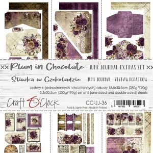 PLUM IN CHOCOLATE - JUNK JOURNAL SET - zestaw dodatków