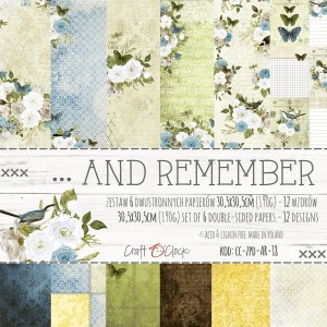 ... AND REMEMBER - a set of papers 30,5x30,5cm