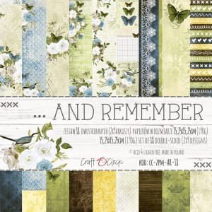 ... AND REMEMBER - a set of papers 15,25x15,25cm