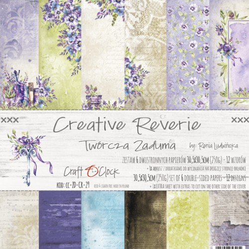 CREATIVE REVERIE - a set of papers 30,5x30,5cm